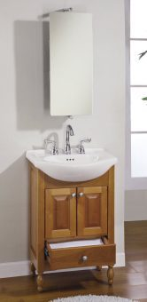 22 Inch Single Sink Narrow Depth Furniture Bathroom Vanity with Choice of Finish and Sink