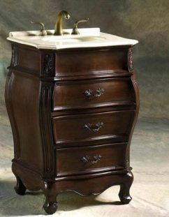 Petite Bathroom Vanity bathroom cabinets and sinks: finish considerations