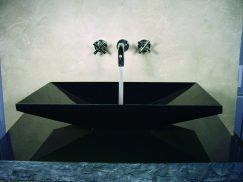 Euro Black Granite Stone Vessel Sink