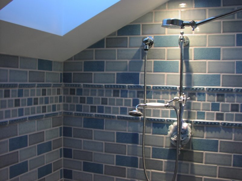 Shower tile thoughts for Tiled bathroom designs pictures