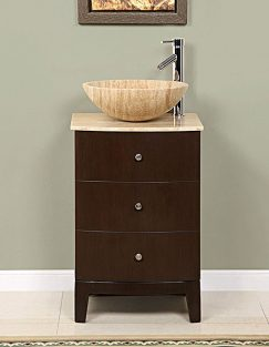 20 Inch Vessel Sink Bathroom Vanity In Walnut