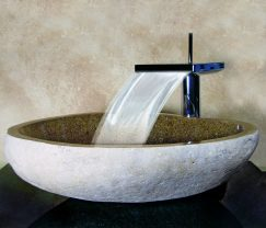 Beautiful Boulder Sand Granite Stone Vessel Sink
