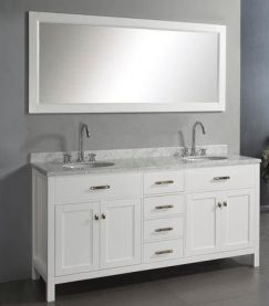 White Double Vanities and Ideas For The White Bathroom