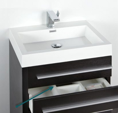 Much Storage As A Drawer Without A Cutout Such As This But For Those That Have Fallen In Love With A Particular Vanity Theyll Take What They Can Get