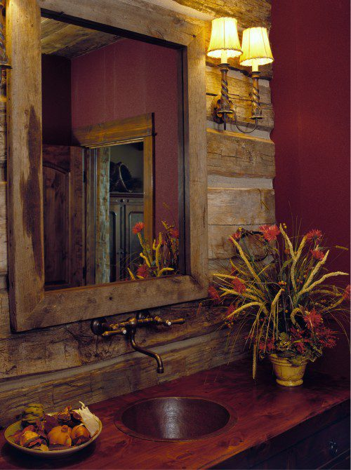 Our pinterest bathroom of the week the rustic bathroom for Bathroom designs rustic