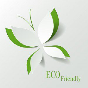 Eco Concept - Green Butterfly Cut The Paper Like Leaves