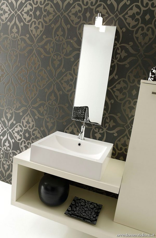 How to protect wallpaper in the bathroom - Papel decorativo para banos ...