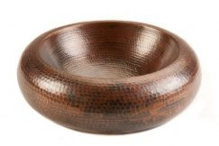 Small Blooming Vessel Hammered Copper Sink