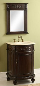 24 inch traditional single vanity