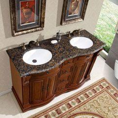55 inch double vanity