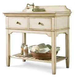 38 Inch Single Sink Bathroom Vanity with Wood Counter Top