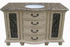 48 Inch Single Sink Bathroom Vanity with Golden Wheat Finish