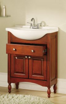26 Inch Single Sink Narrow Depth Furniture Bathroom Vanity With Choice Of Finish And
