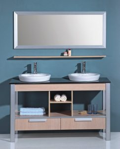 bathroom cabinets shelves the open shelving bathroom vanity a trend 10420