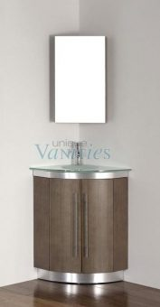 31 Inch Single Sink Bathroom Vanity with Choice of Top in Smoked Ash