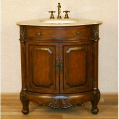 32 Inch Corner Single Sink Bathroom Vanity
