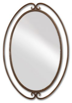 Kilmer Iron Rust Oval Mirror