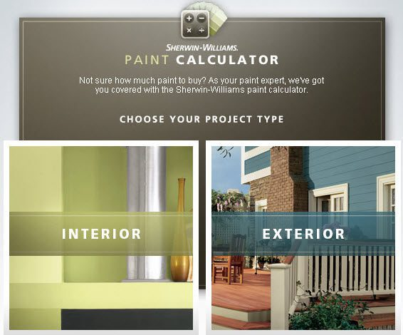 We Recommend The Sherwin Williams Paint Calculator