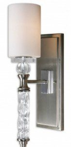 1 Light Wall Sconce In Brushed Nickel