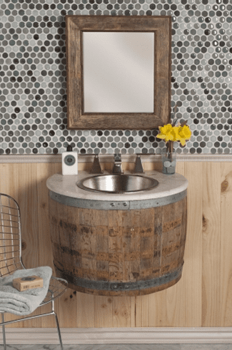 rustic bathroom design on a budget
