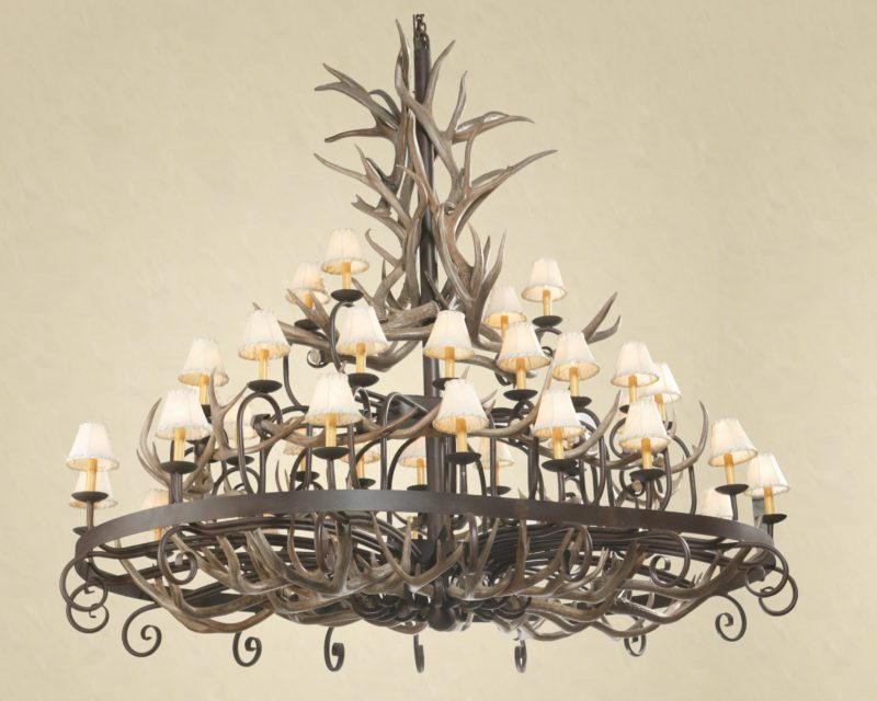 How to clean an antler chandelier antler chandeliers how to clean antlers aloadofball Image collections