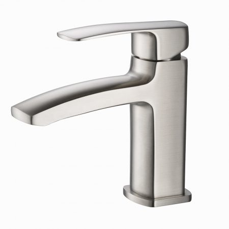 Brushed Nickel Single Hole Bathroom Faucet