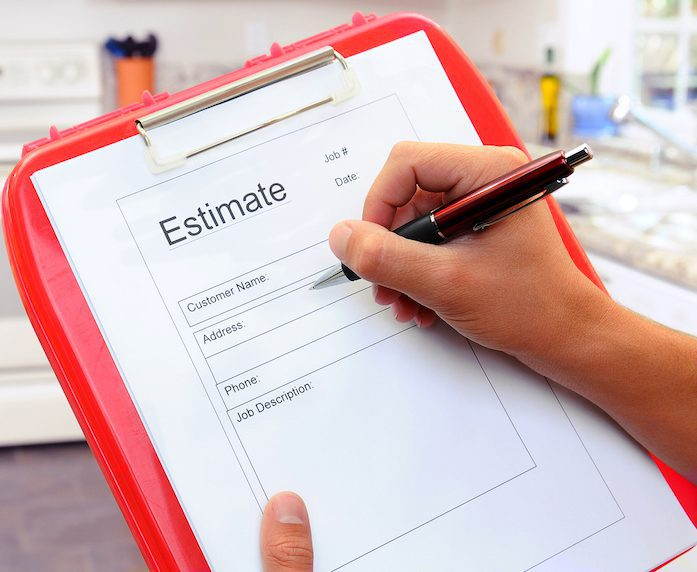 estimate from contractor
