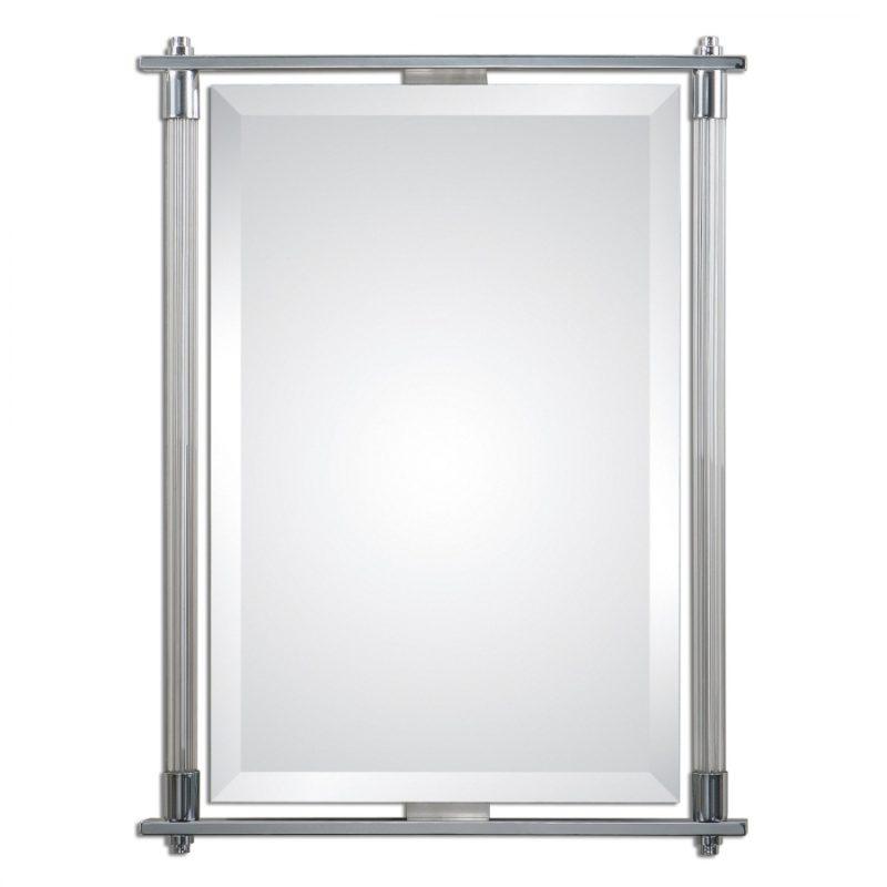 Adara Polished Chrome Rectangular Mirror