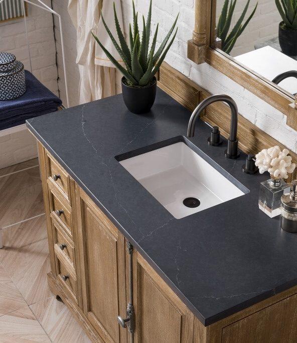 48 Inch Single Sink Bathroom Vanity in Driftwood Finish
