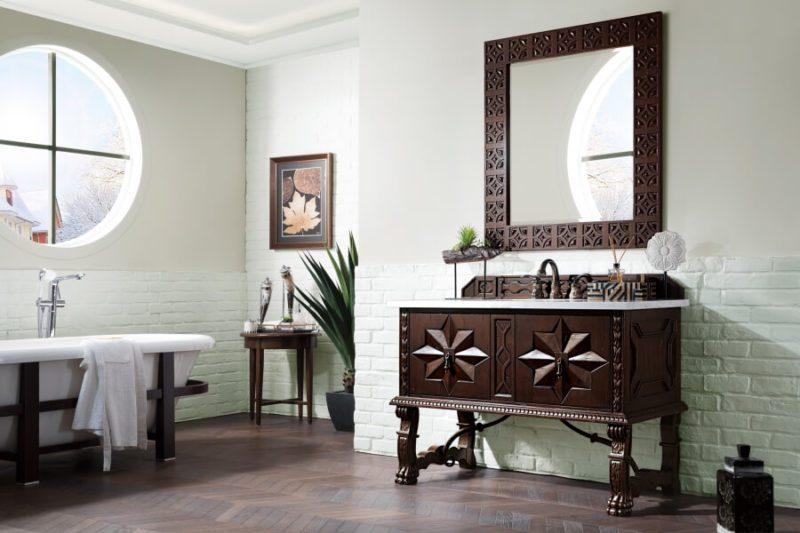 48 Inch Single Sink Bathroom Vanity in Antique Walnut
