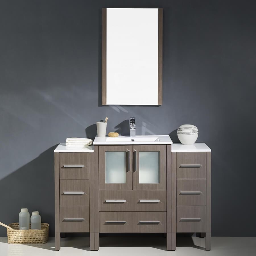 48 Inch Gray Oak Modern Bathroom Vanity