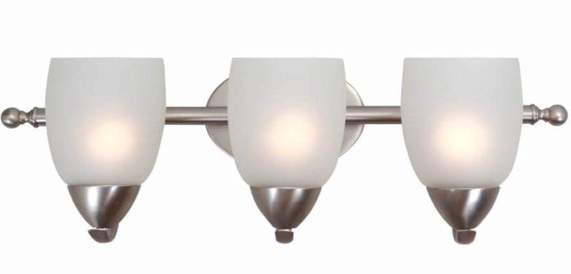 3 Light Vanity Lighting in Brushed Nickel
