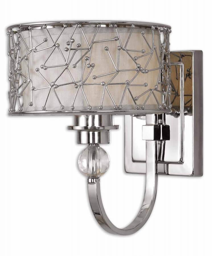 1 Light Wall Sconce in Nickel