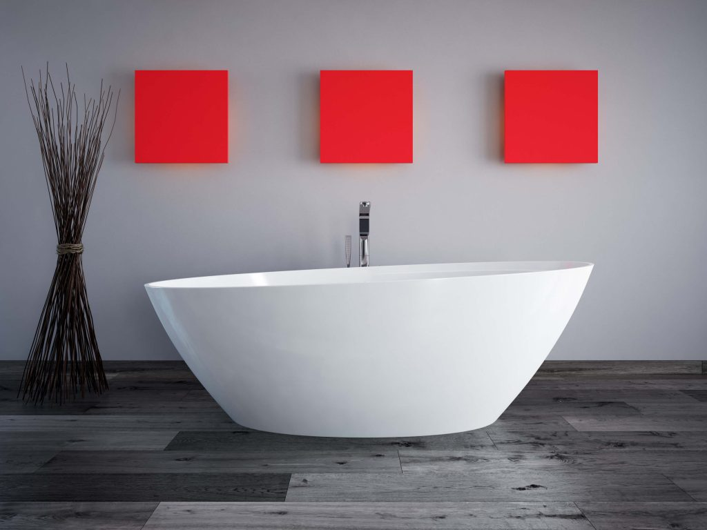 bold colors in the bathroom
