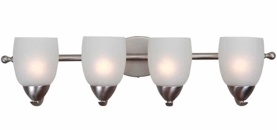 4 Light Vanity Lighting in Brushed Nickel