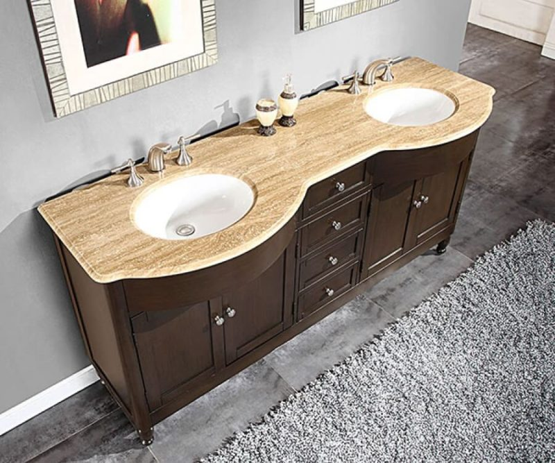 72 Inch Double Sink Bathroom Vanity with Top Choice