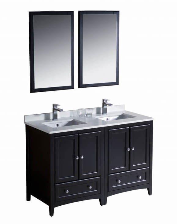 48 Inch Double Sink Bathroom Vanity in Espresso