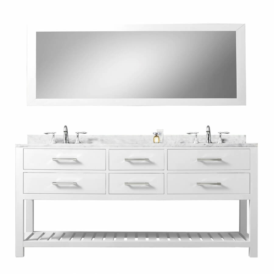 72 Inch Double Sink Bathroom Vanity with Soft Closing Drawers