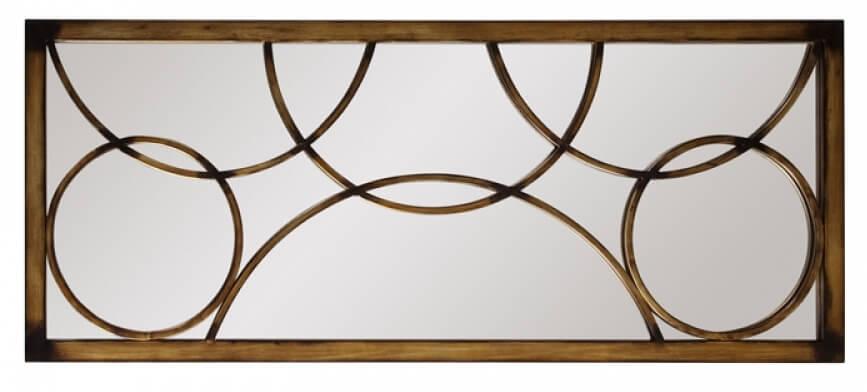 Brittany Rectangular Antique Bronze Metal Frame Mirror