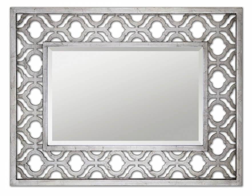 Sorbolo Antiqued Silver Leaf With Black Undertones Rectangular Mirror