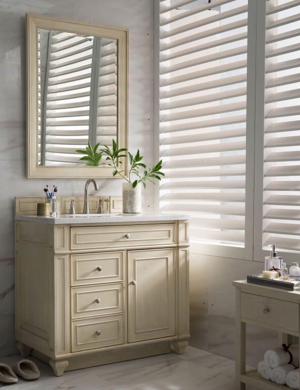 36 Inch Single Sink Bathroom Vanity in Vintage Vanilla White