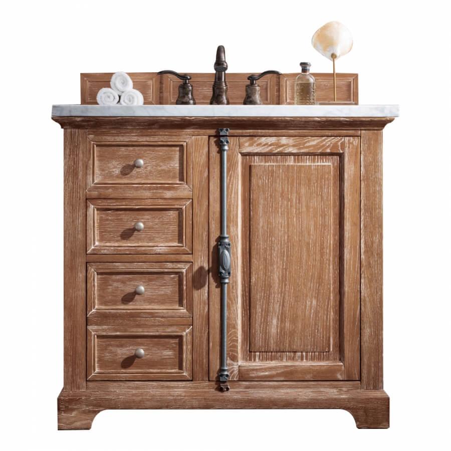 36 Inch Single Sink Bathroom Vanity in Driftwood Finish