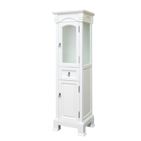 bathroom linen cabinet in cream white finish uvbh205065towercr