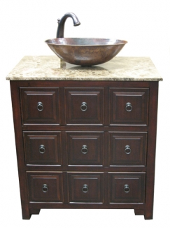 Bathroom Vanity Clearance on Clearance 30 Inch Single Sink Bathroom Vanity With Dark Emperador