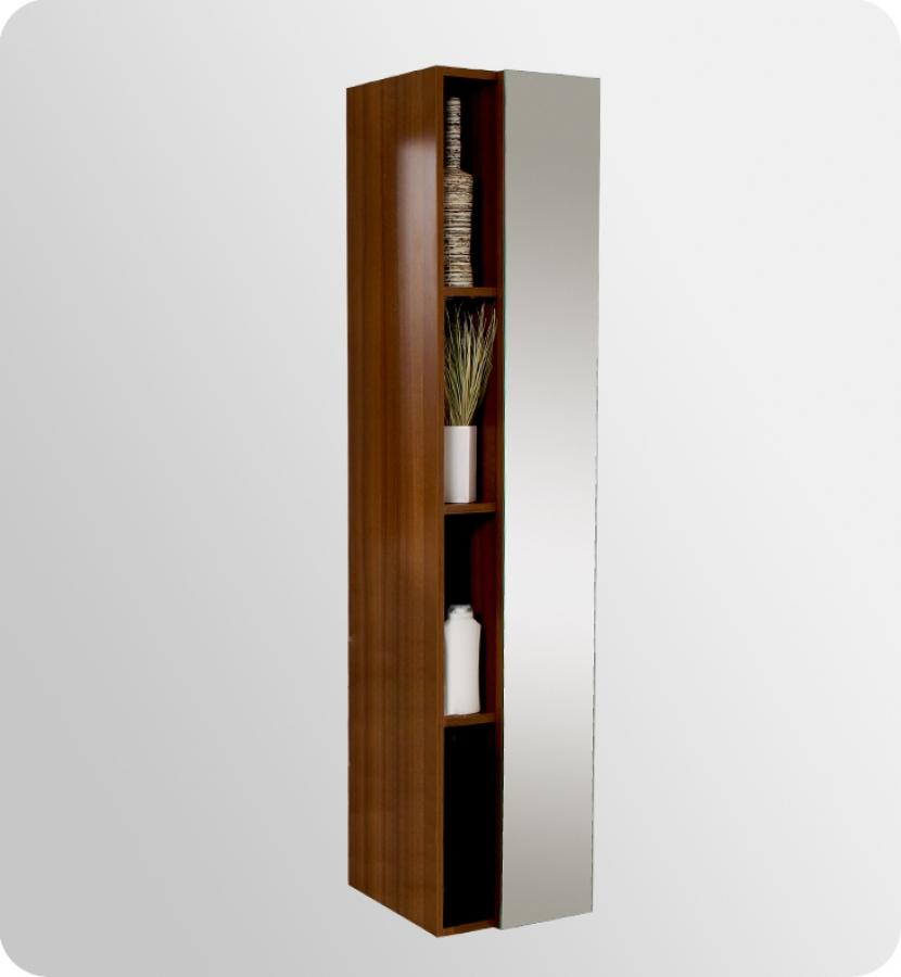 teak bathroom linen cabinet with cubby holes uvfst8070tk