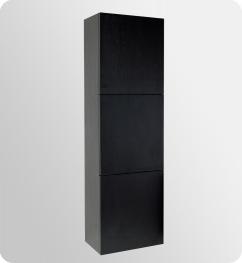 Bathroom Linen Cabinets on Black Bathroom Linen Cabinet With Storage Uvfst8090bw