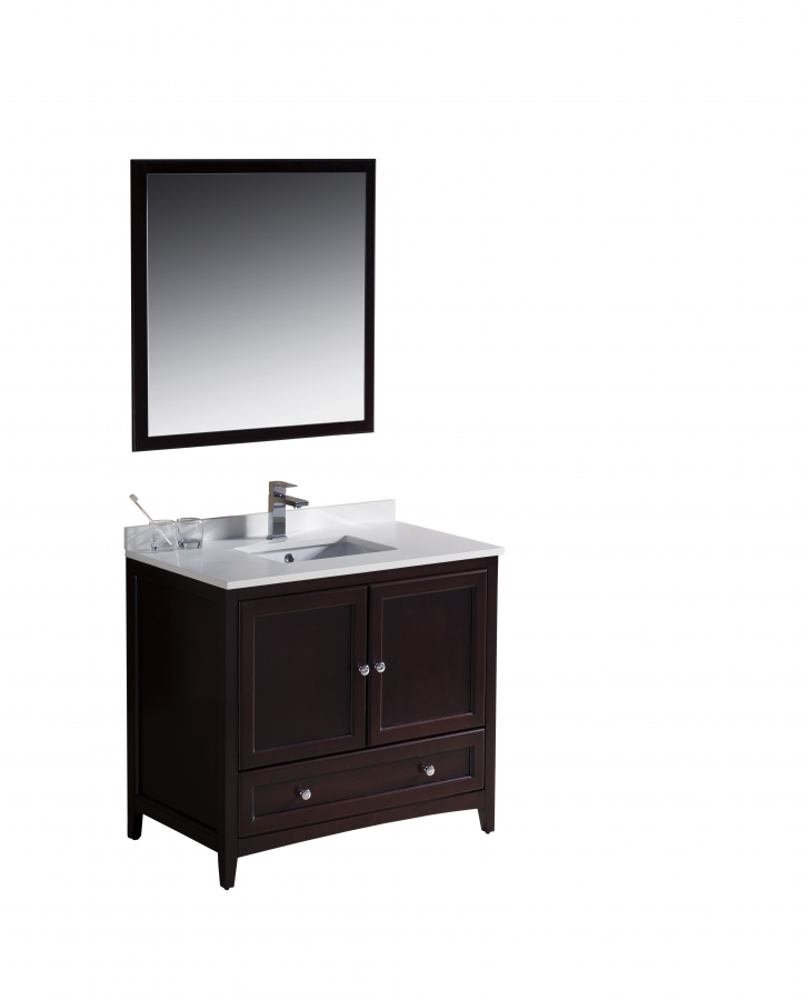 36 Inch Single Sink Bathroom Vanity In Mahogany UVFVN2036MH36
