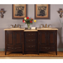 73.5 Inch Double Sink Vanity with Under Counter LED Lighting UVSR0726TL73