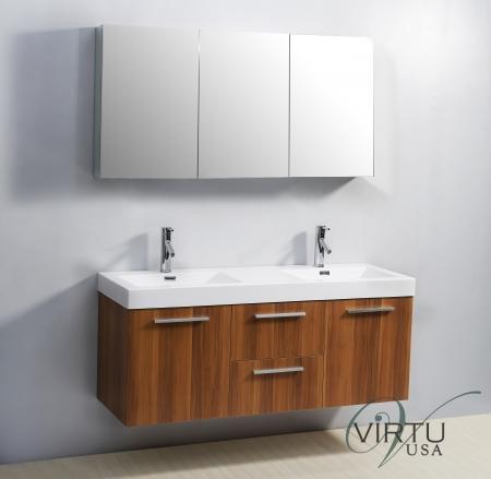 54 inch double sink bathroom vanity with blum hinges uvvu50154pl54 for 54 inch double sink bathroom vanity