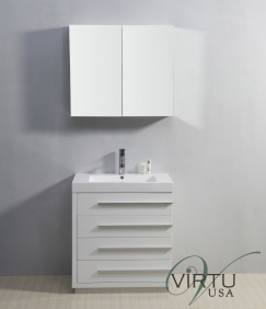30 Inch Single Sink Bathroom Vanity With Four Drawers UVVU50530GW29